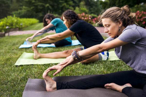 Yoga at Mt. Cuba Center.