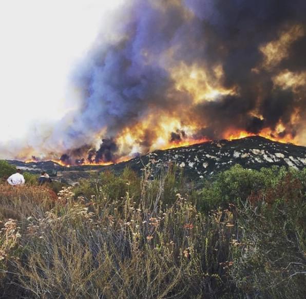Natural Lands Manager Nathan Shampine fighting fires.