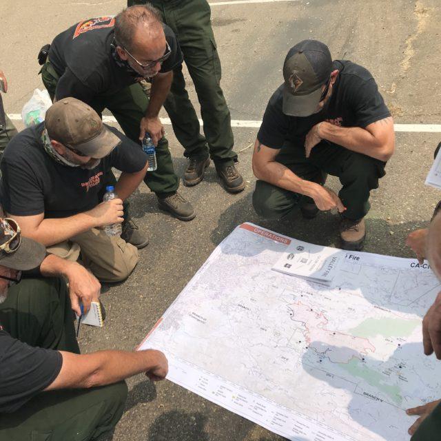 Wildfire prevention team planning