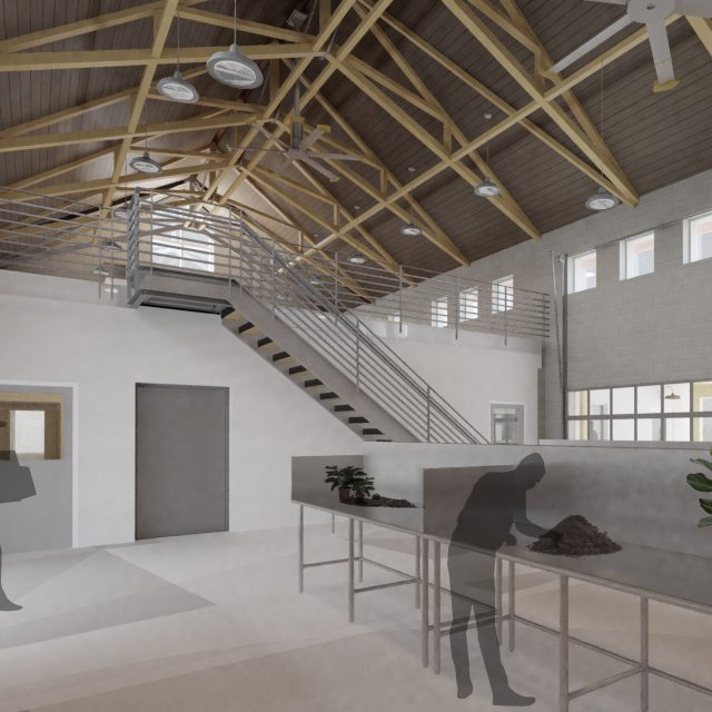 Rendering of the soon to be built interior at Mt. Cuba Center